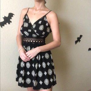 Cute black boho dress